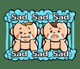Daddy, please! Cute babies.(English) sticker #941642