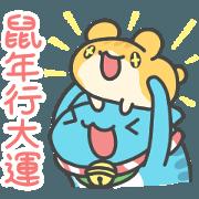 สติ๊กเกอร์ไลน์ BugCat-Capoo Lucky Capoo & Hamster