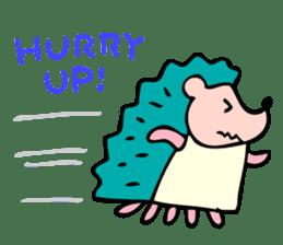 Hurry the hedgehog sticker #947383