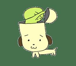 Dog in need alien is settled in head sticker #949489