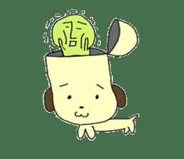 Dog in need alien is settled in head sticker #949492