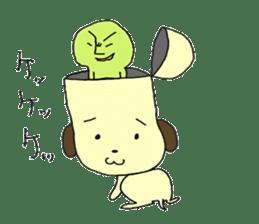 Dog in need alien is settled in head sticker #949494