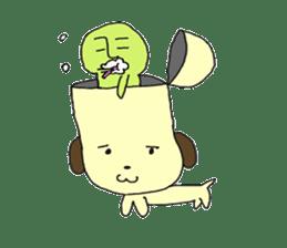 Dog in need alien is settled in head sticker #949501