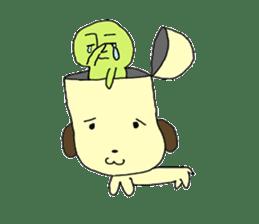 Dog in need alien is settled in head sticker #949502