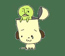 Dog in need alien is settled in head sticker #949504