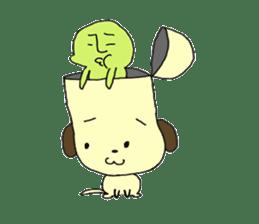 Dog in need alien is settled in head sticker #949505