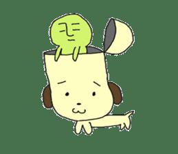 Dog in need alien is settled in head sticker #949508
