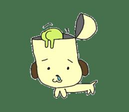Dog in need alien is settled in head sticker #949510