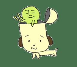 Dog in need alien is settled in head sticker #949514