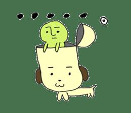 Dog in need alien is settled in head sticker #949518