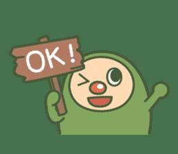 Green mameta(English) sticker #949689