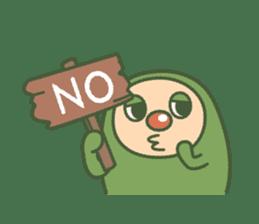 Green mameta(English) sticker #949690