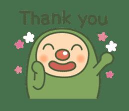 Green mameta(English) sticker #949691