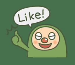 Green mameta(English) sticker #949692