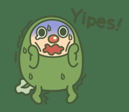 Green mameta(English) sticker #949696