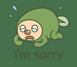 Green mameta(English) sticker #949698