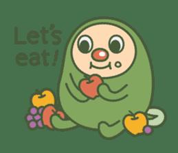 Green mameta(English) sticker #949707