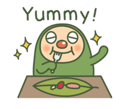 Green mameta(English) sticker #949709