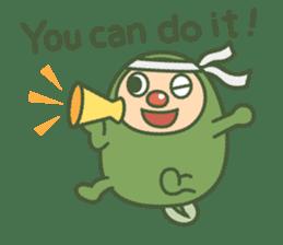 Green mameta(English) sticker #949710