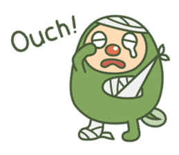 Green mameta(English) sticker #949715