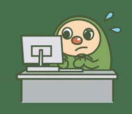 Green mameta(English) sticker #949724
