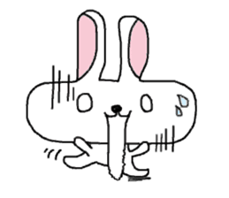 long face rabbit sticker #953608