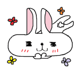 long face rabbit sticker #953609