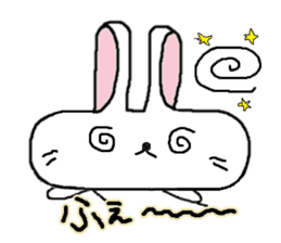 long face rabbit sticker #953611