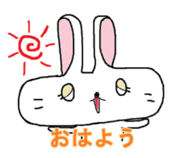long face rabbit sticker #953619