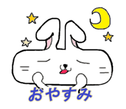 long face rabbit sticker #953620