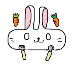 long face rabbit sticker #953623