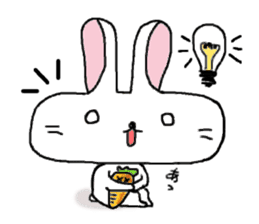 long face rabbit sticker #953630