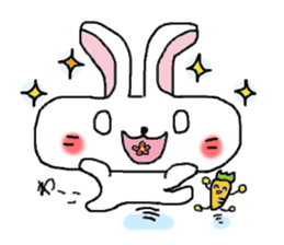 long face rabbit sticker #953631