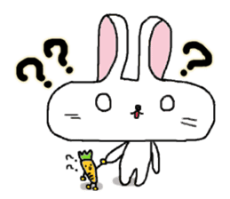 long face rabbit sticker #953632