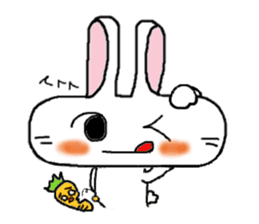 long face rabbit sticker #953636