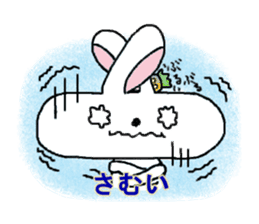long face rabbit sticker #953641