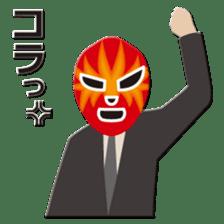 Go for it ! Wrestler office worker sticker #954450