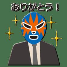 Go for it ! Wrestler office worker sticker #954473