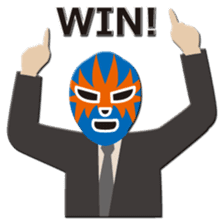 Go for it ! Wrestler office worker sticker #954476