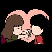 สติ๊กเกอร์ไลน์ Aida & KiKi: Emotional Stickers