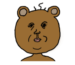 yochida  bear Sticker sticker #955330