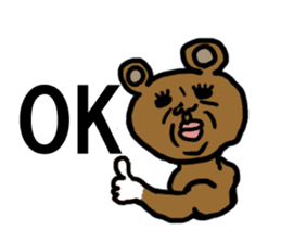 yochida  bear Sticker sticker #955337