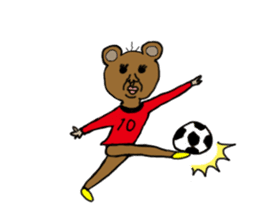 yochida  bear Sticker sticker #955346