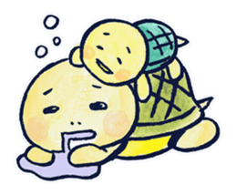 parent and child of a tortoise sticker #956536