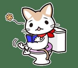 "Damnable cat,""iraneko"" sticker #957415"