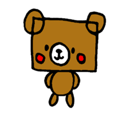 Square Kuma-kun sticker #957447