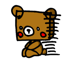 Square Kuma-kun sticker #957466