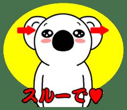 White koala returns sticker #960047