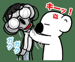 White koala returns sticker #960050