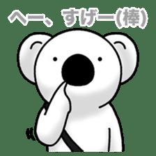 White koala returns sticker #960057